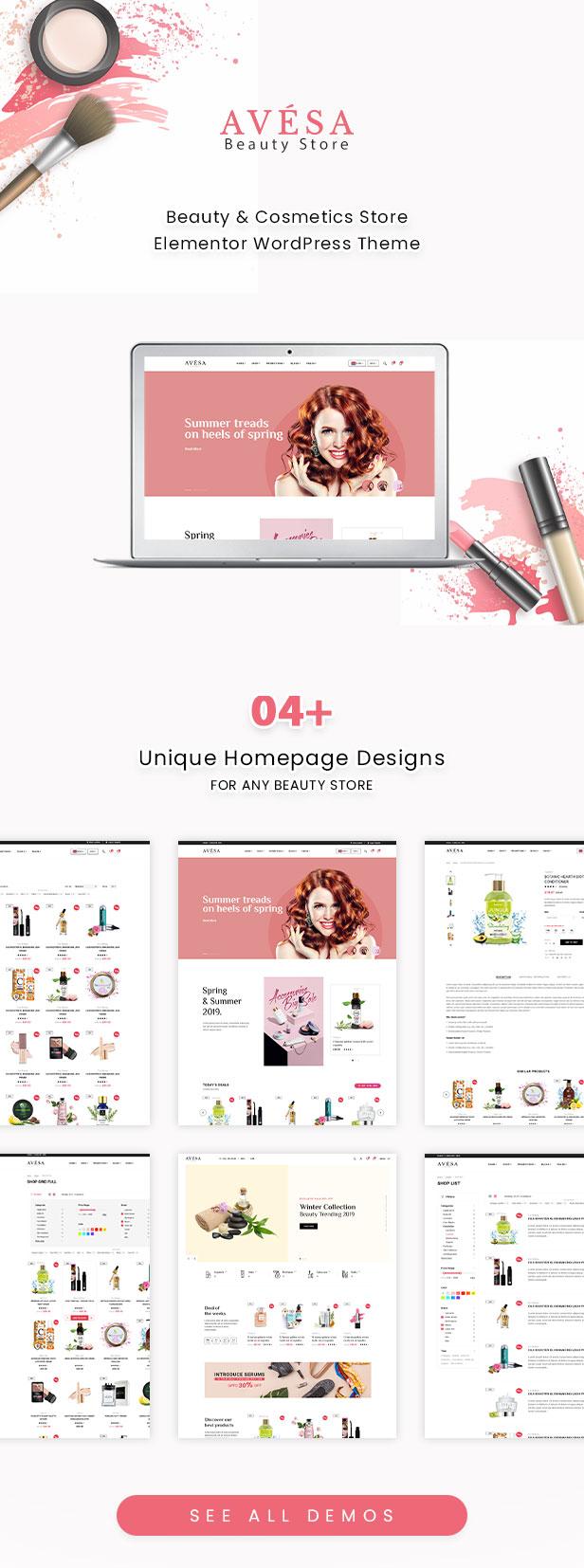 Avesa - Beauty Store WooCommerce WordPress Theme - WooCommerce Theme