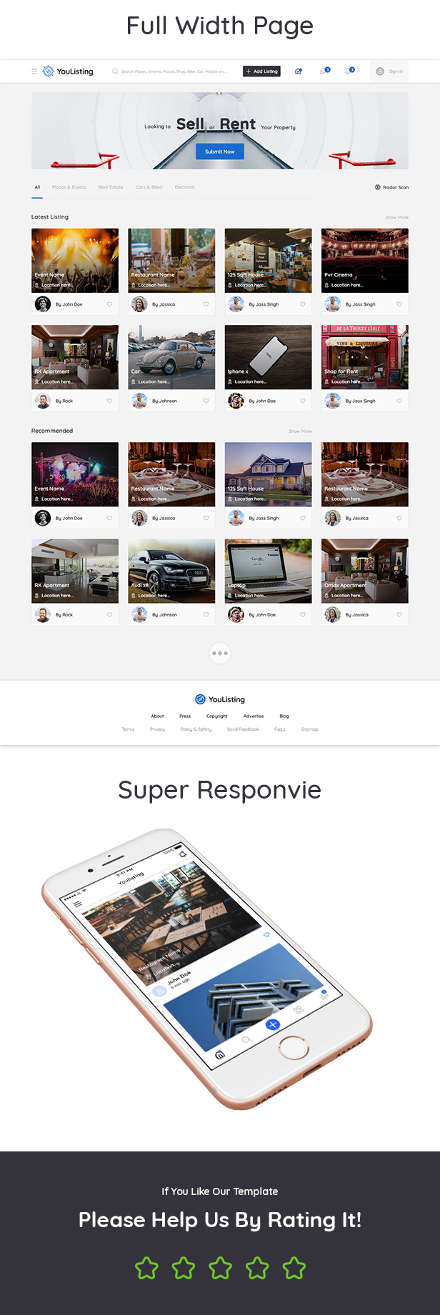 YouListing - Classified Listing and Directory Social Networking PSD Template - 9