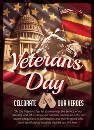 Veteran's Day Flyer Template by Design Cloud
