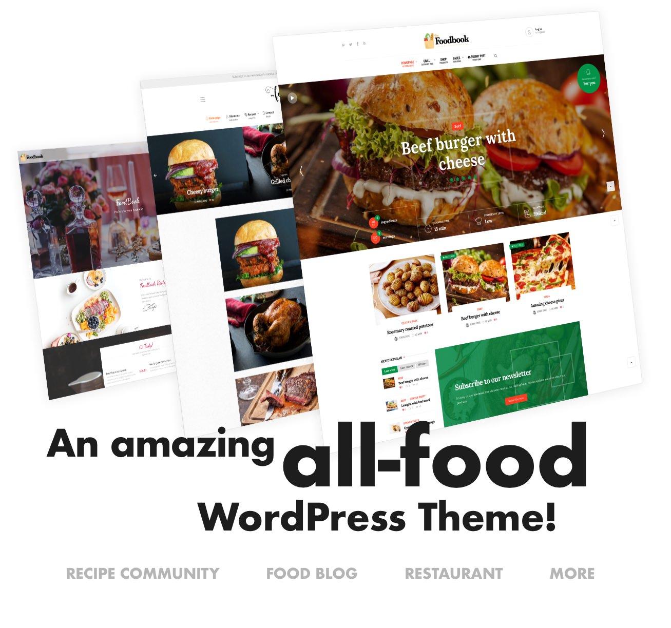 Foodbook - Recipe Community, Blog, Food & Restaurant Theme - 1