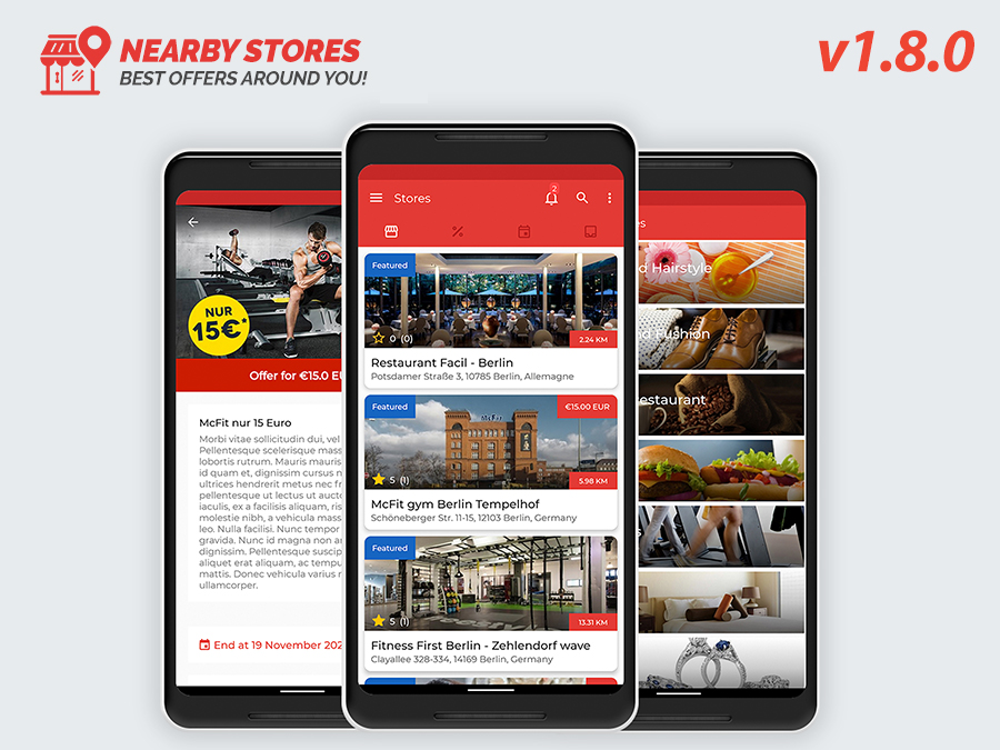 NearbyStores - Offers, Events & Chat Realtime + Firebase 1.8 - 1