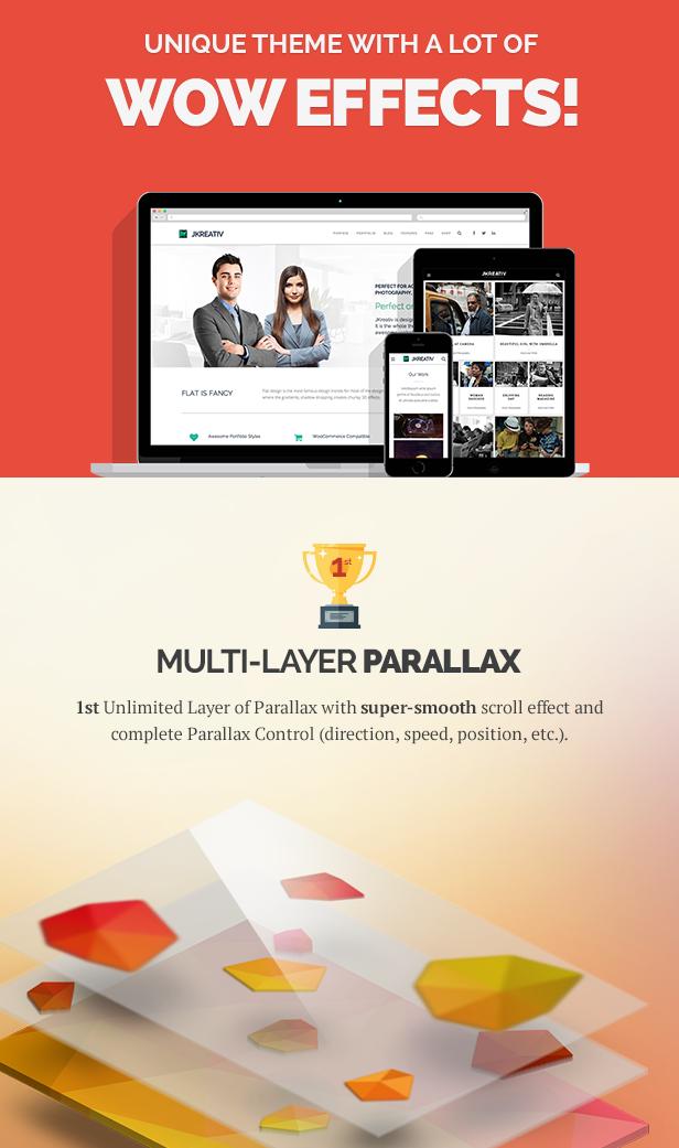 Jkreativ - Multilayer Parallax MultiPurpose Theme - 2