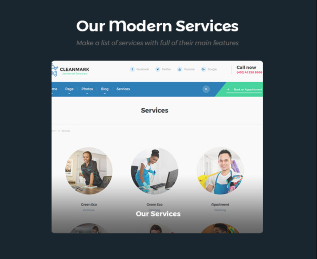 Cleanmark Modern Service- Best Cleaning Service, Cleaning Company, Cleaning Business WordPress Theme