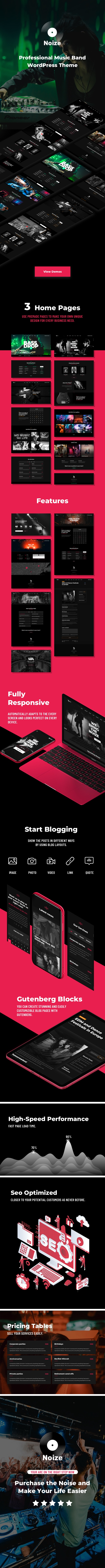 Noize - Music Industry WordPress - 1