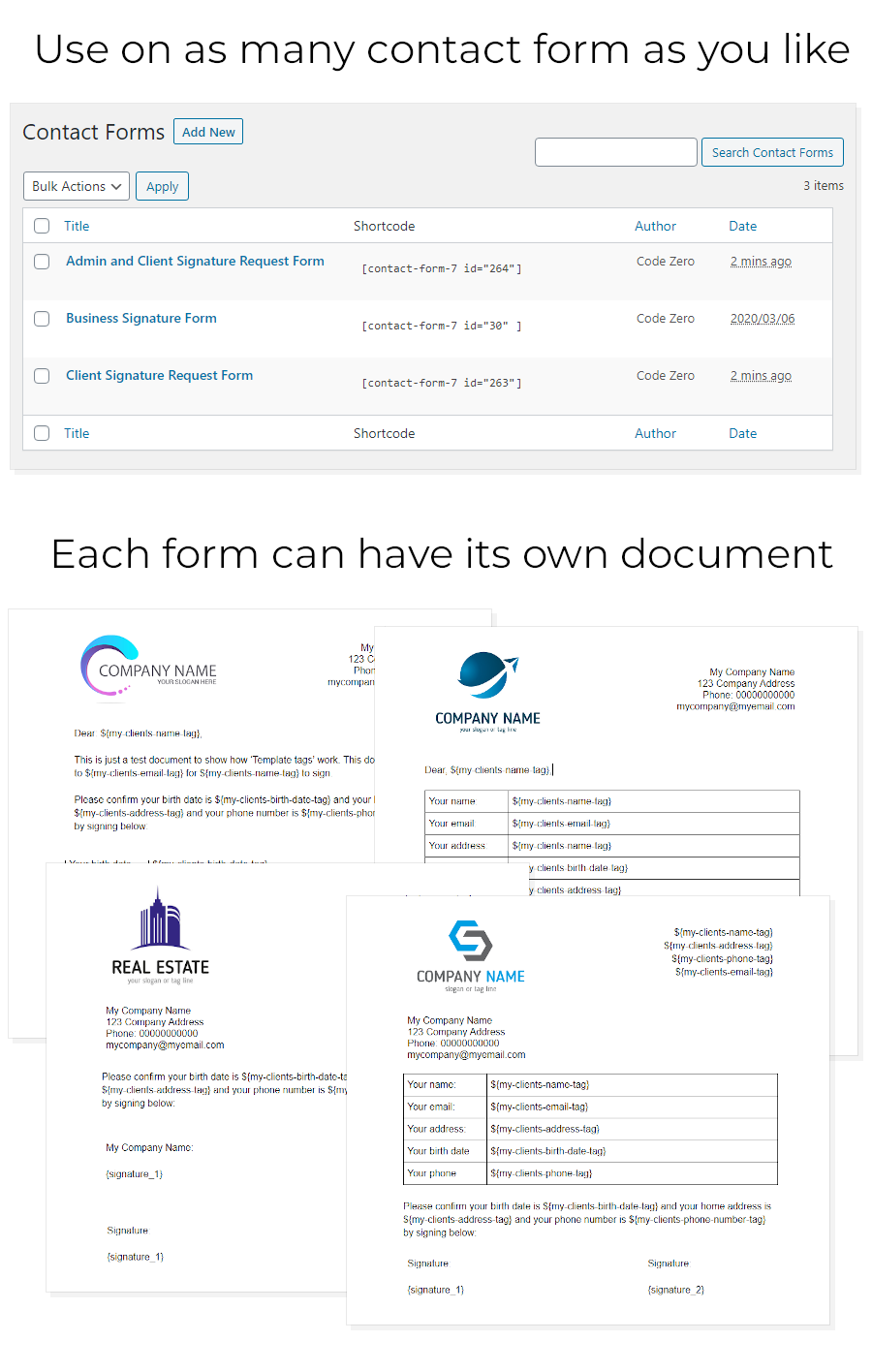 Contact Form 7 Docusign Envelope Creator for WordPress - 3