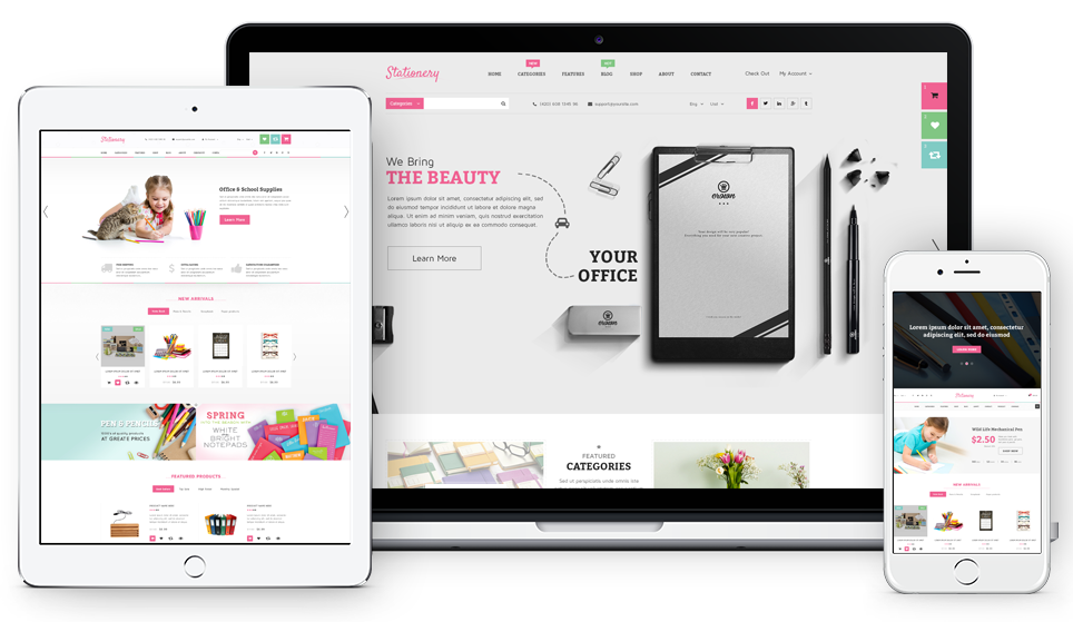 Stationery- Fully Responsive