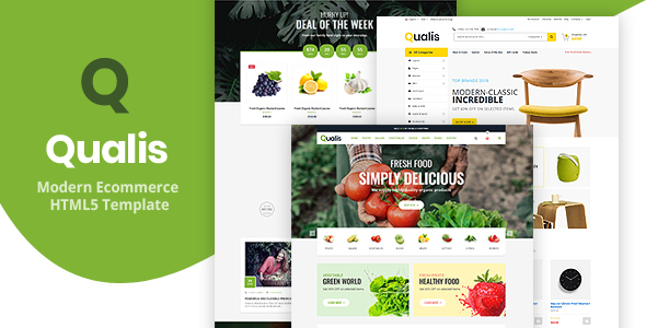 Qualis - Responsive Ecommerce HTML5 Template - Shopping Retail