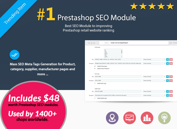 Best Prestashop 1.6 and 1.7 SEO module