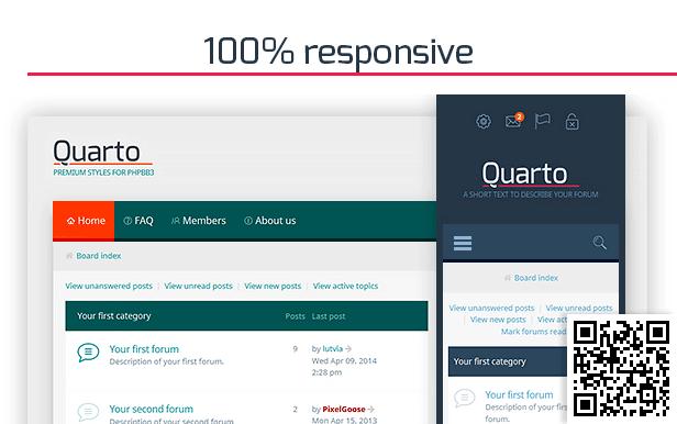 Quarto —phpBB3 Responsive & Retina Ready Theme - themeforest, phpbb, forums