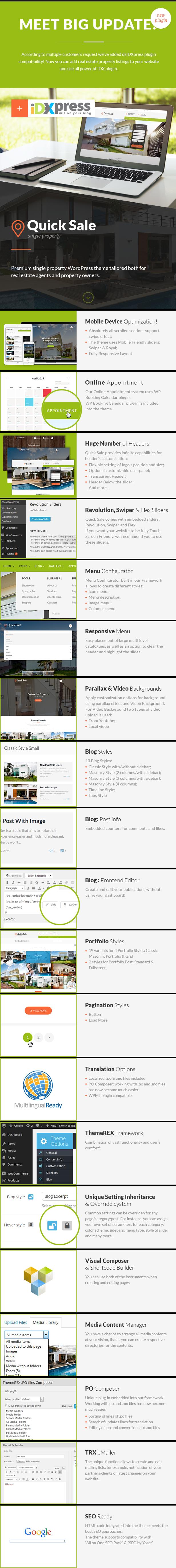 Quick Sale | Single Property Real Estate WordPress Theme - 2