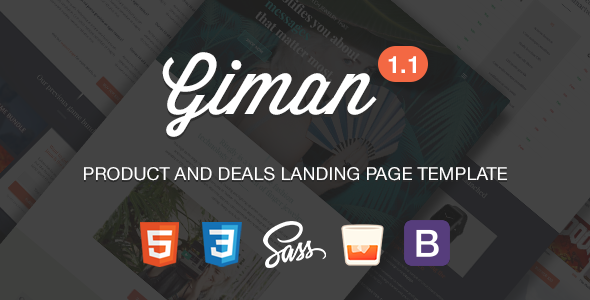 Giman Product and Deals Landing Page