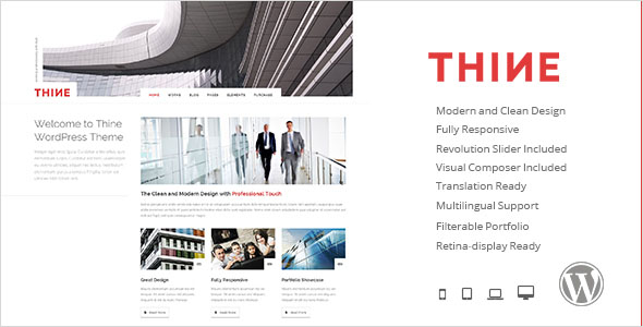 Thine - Responsive Modern WordPress Theme