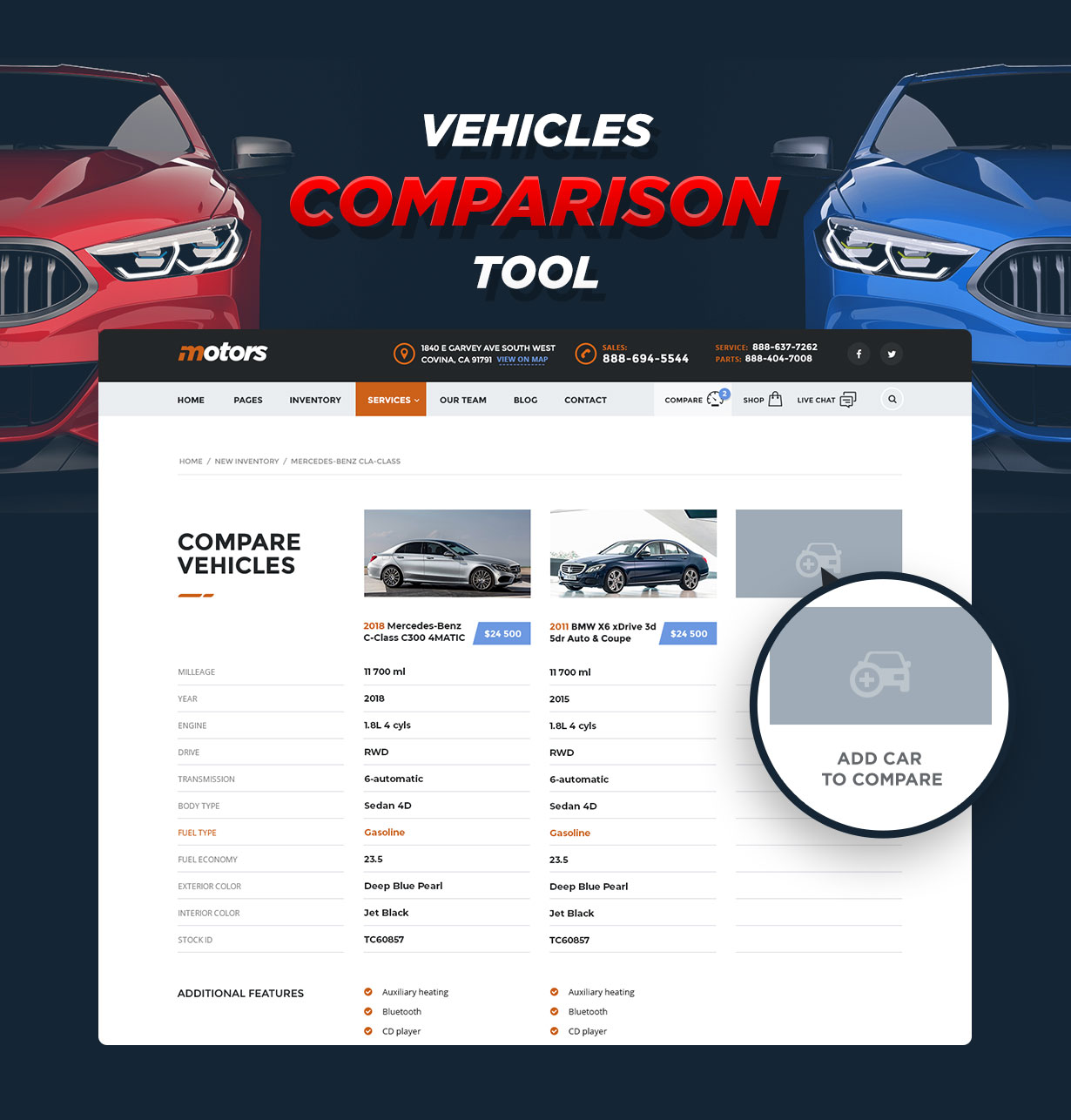 Motors - Car Dealer, Rental & Listing WordPress theme - 6