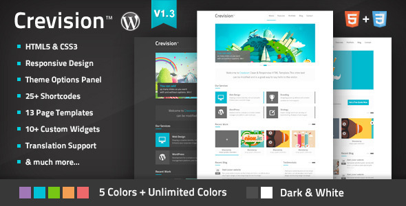 Crevision - Responsive WordPress Theme - ThemeForest Item for Sale