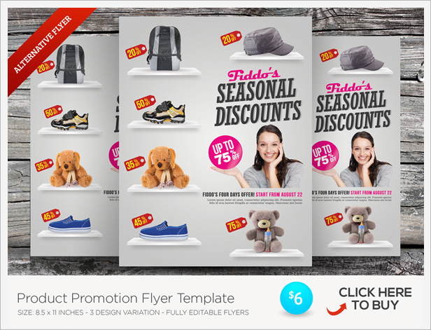 Cyber Monday Sale Flyer Templates By Kinzi GraphicRiver - Promotional brochure template