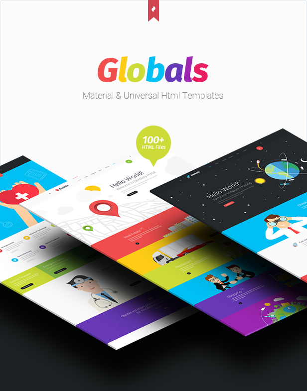 Globals - Material & Bootstrap HTML Template - 1