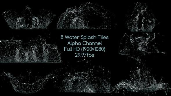 Water Drop Splash Logo - 70