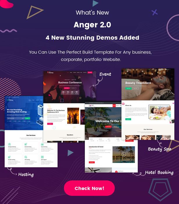 Anger - Agency, Corporate and Portfolio Multi-Purpose HTML Template