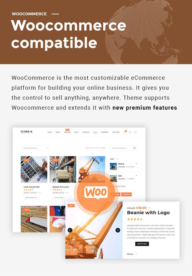 Globax - Logistics WordPress Theme + Woocommerce - 8