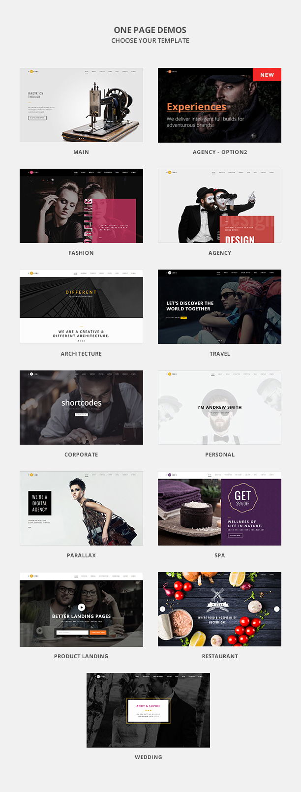 H-Code Multipurpose OnePage & Multi Page Template - 5