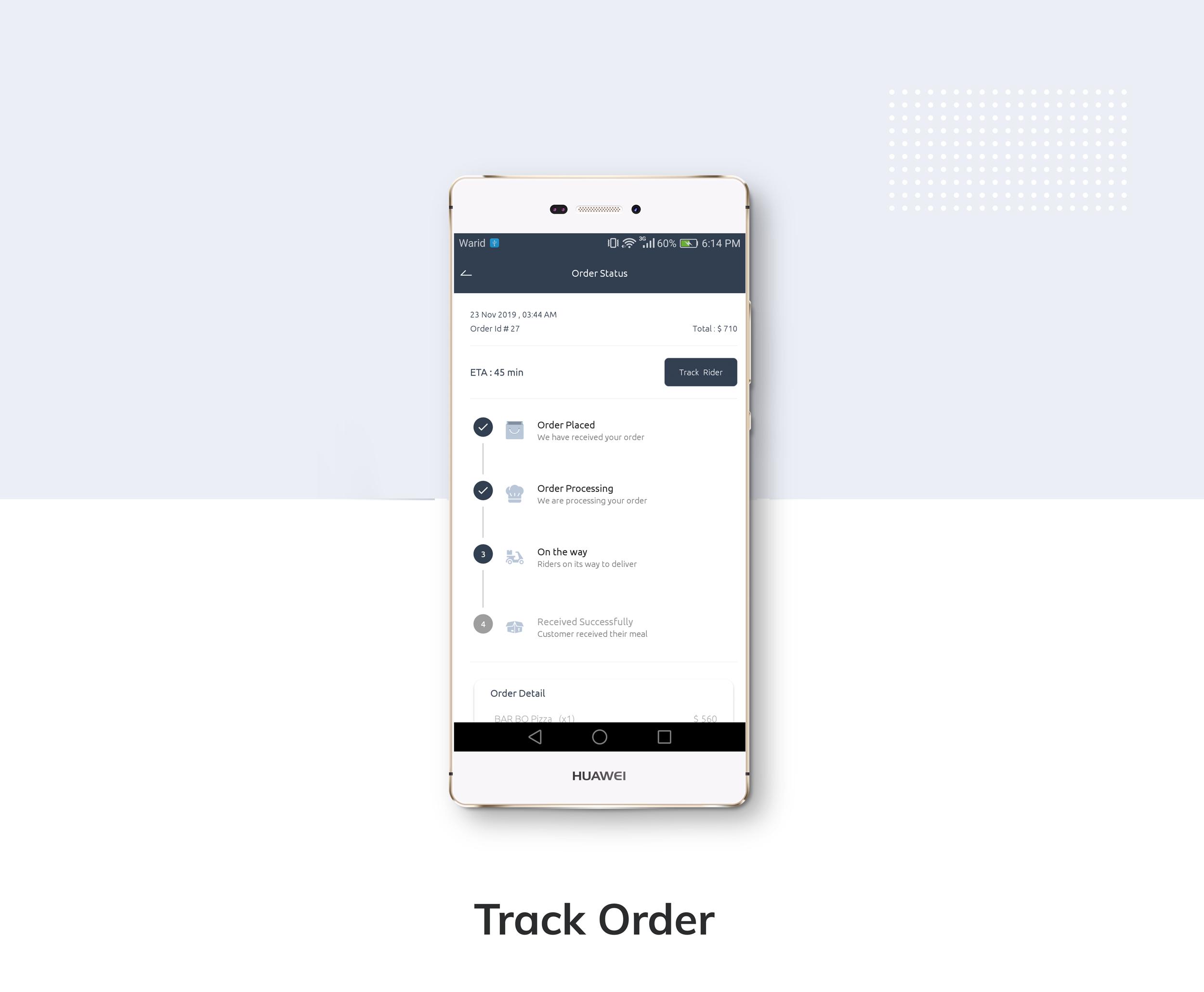 Restaurante App de entrega de comida com entregador - 7
