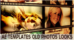 Various projects with different (old or burned) photo looks. great for videos, photos, memories albums