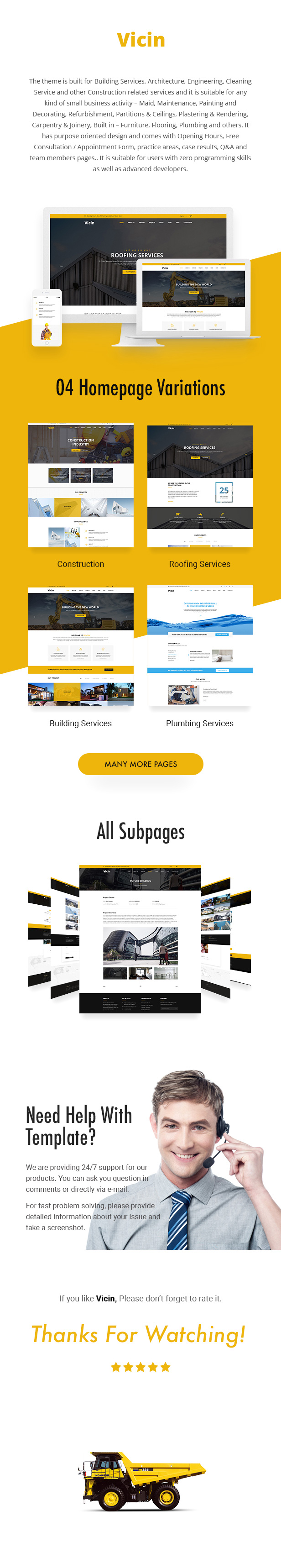 Vicin | Multipurpose Construction & Plumbing HTML Template - 2