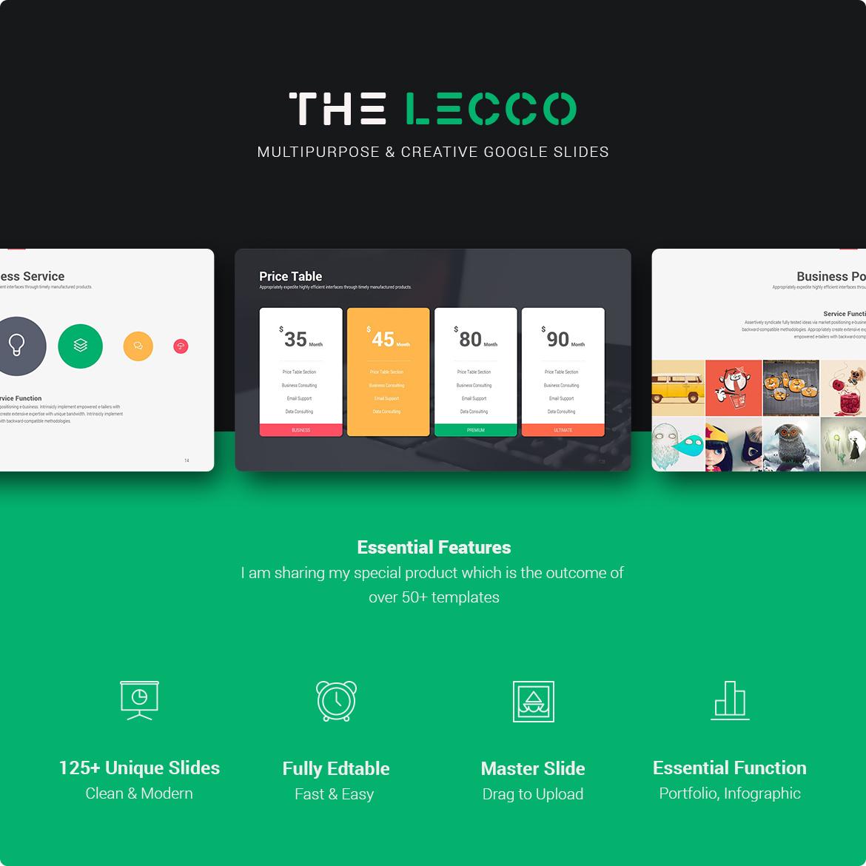 Lecco Multipurpose Google Slide Theme by SimpleSmart | GraphicRiver