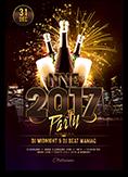 NYE 2017 Party Flyer