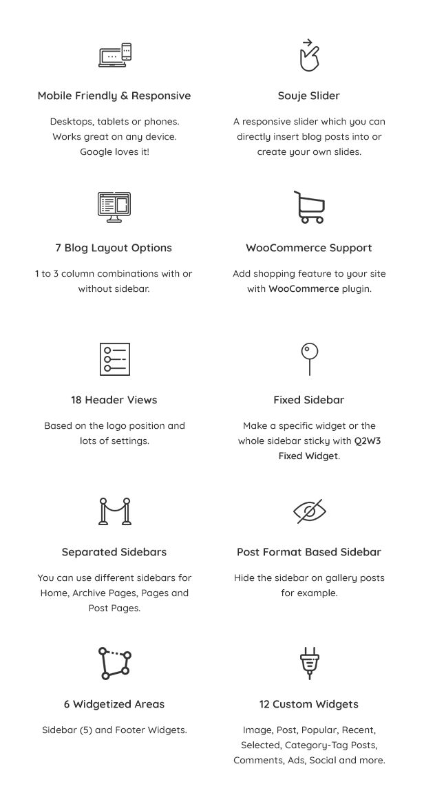 Souje Theme Features 1