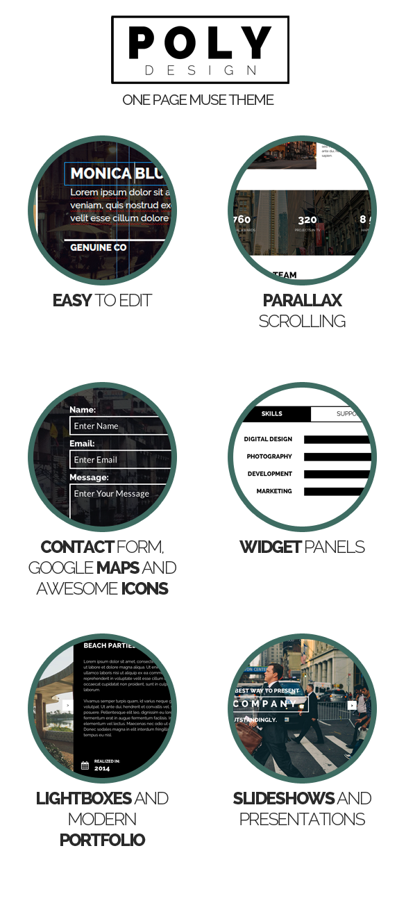 Poly - One Page Muse Template - 3