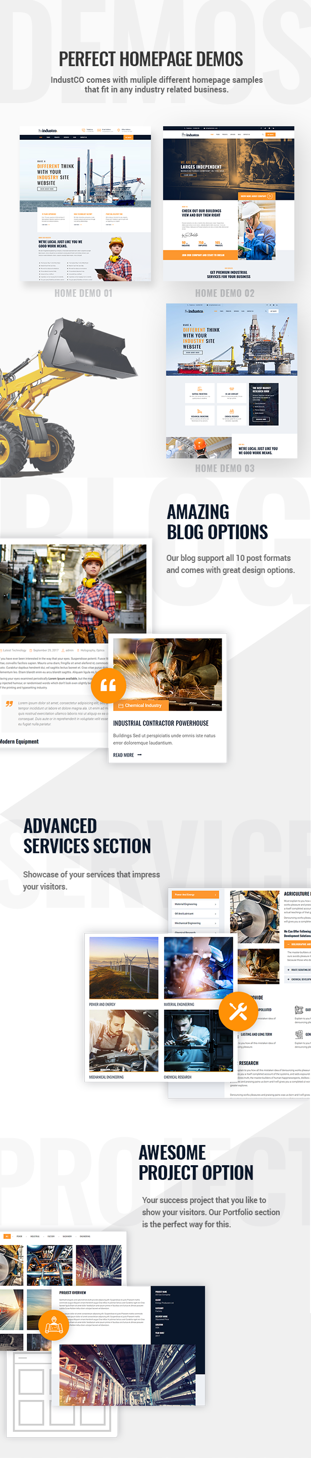 IndustCO WordPress Theme