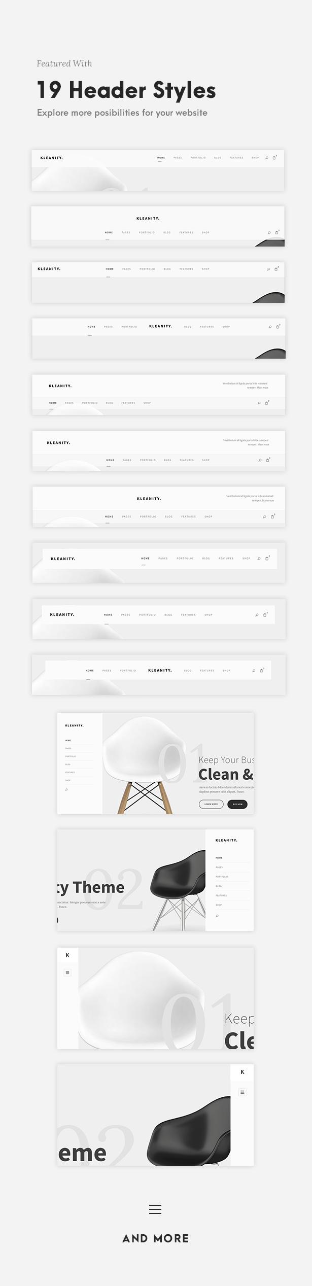 Kleanity - Minimalist WordPress Theme / Creative Portfolio - 5