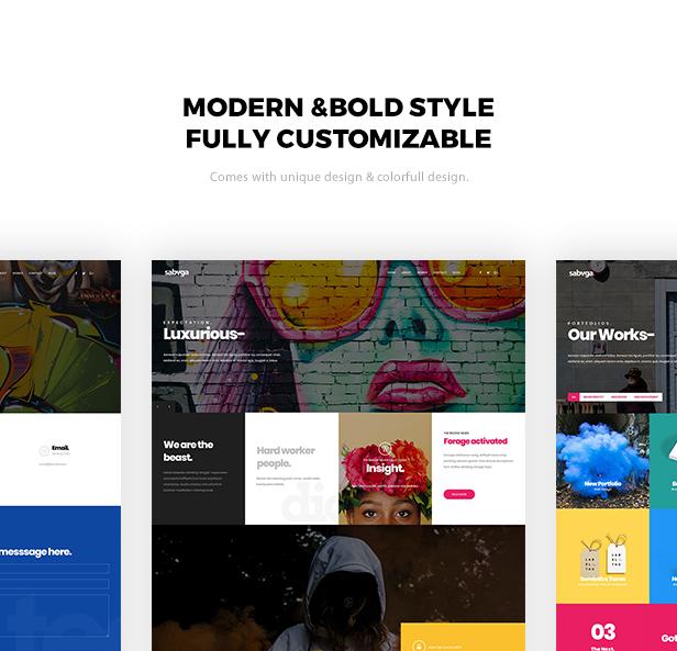 Sabvga - Modern & Creative Portfolio Theme - 1