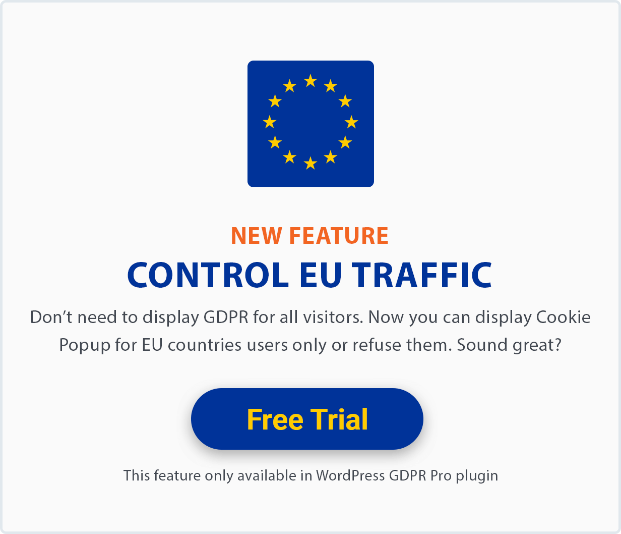 Control EU Traffic GDPR