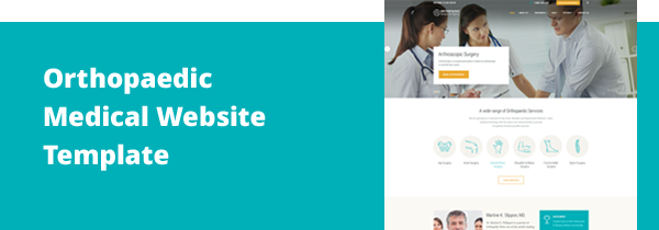 Site | Orthopedic Responsive Medical & Healthcare Website Template