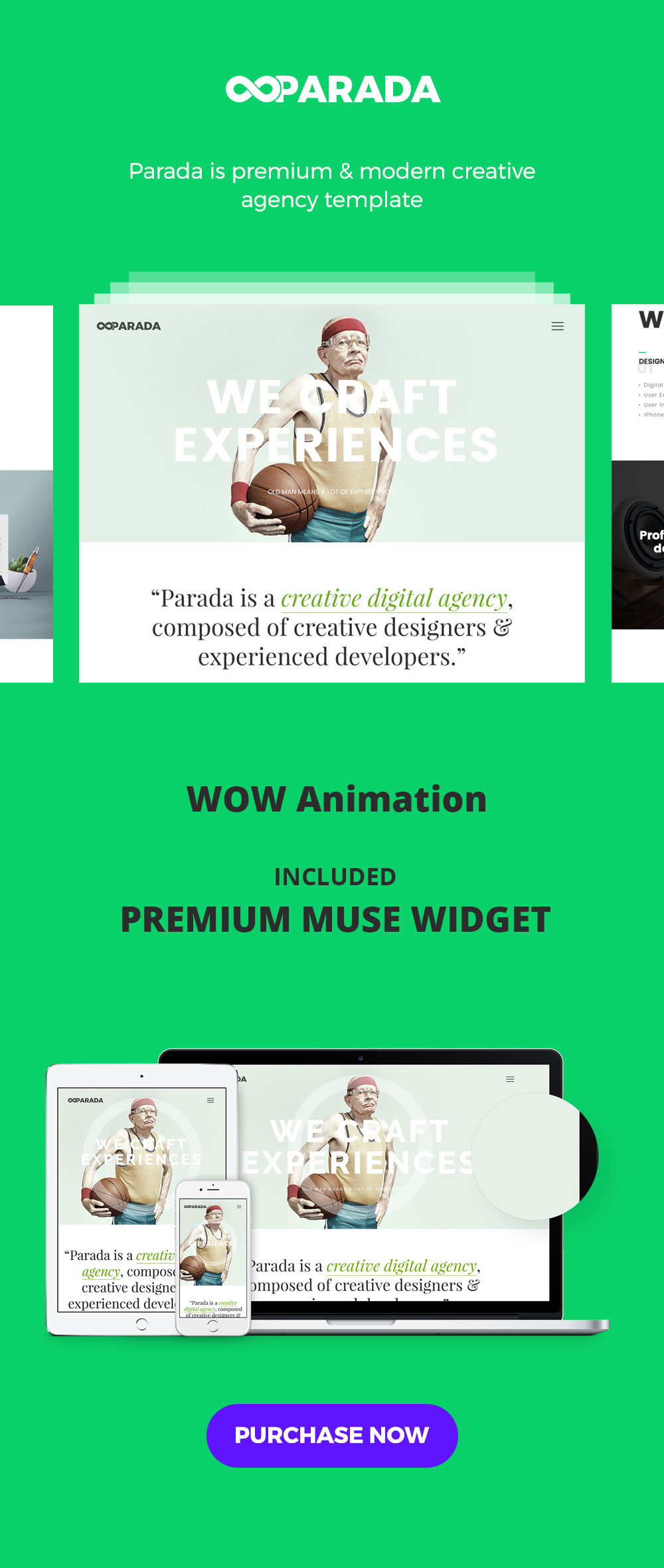 Parada | Creative Agency Muse Template Download
