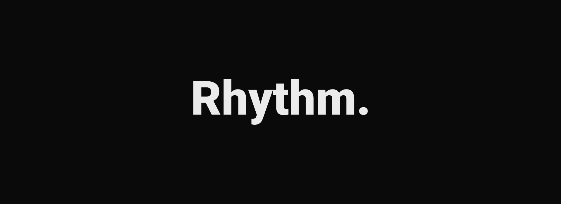 Rhythmic Typography Page | Videohive | Blinque