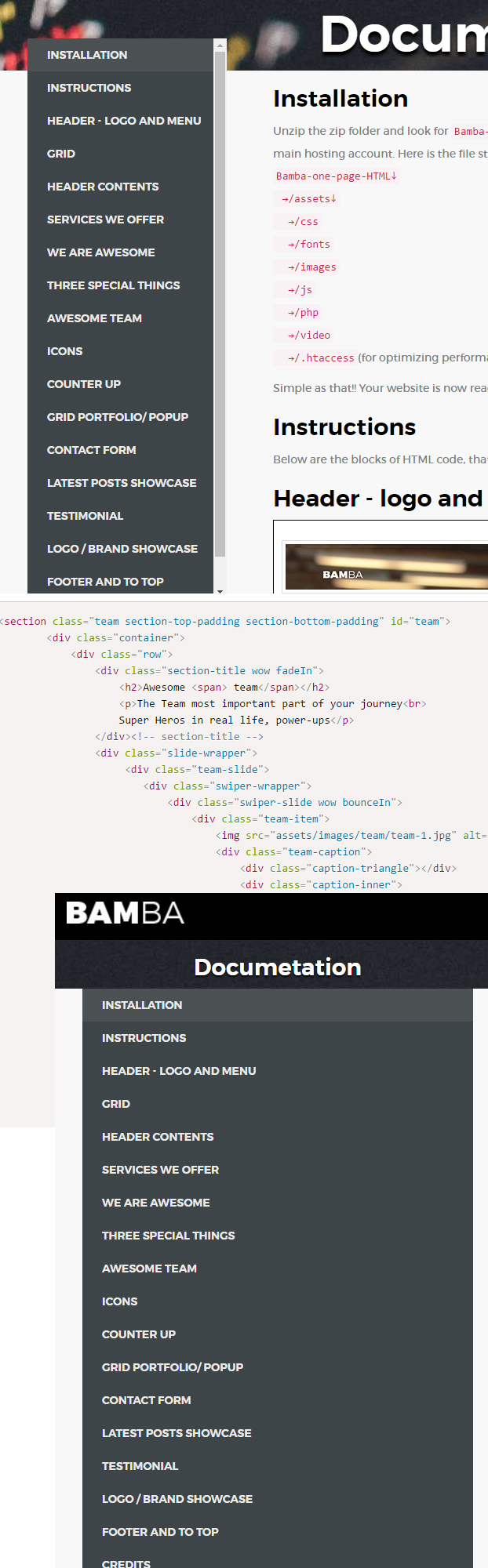 Bamba - One Page Clean Responsive Business HTML5 Template - 7