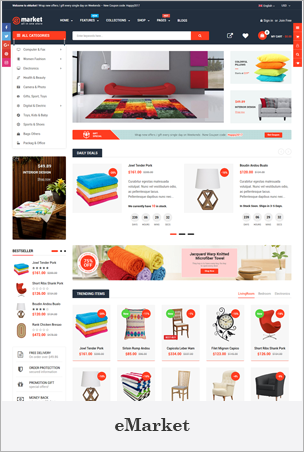 eMarket - Responsive & Multipurpose Sectioned Drag & Drop Shopify Theme