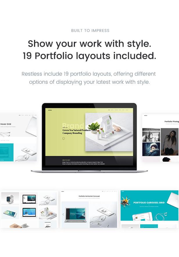 Restless versatile, clean and modern portfolio template