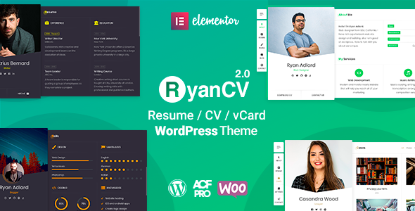 RyanCV WordPress Theme
