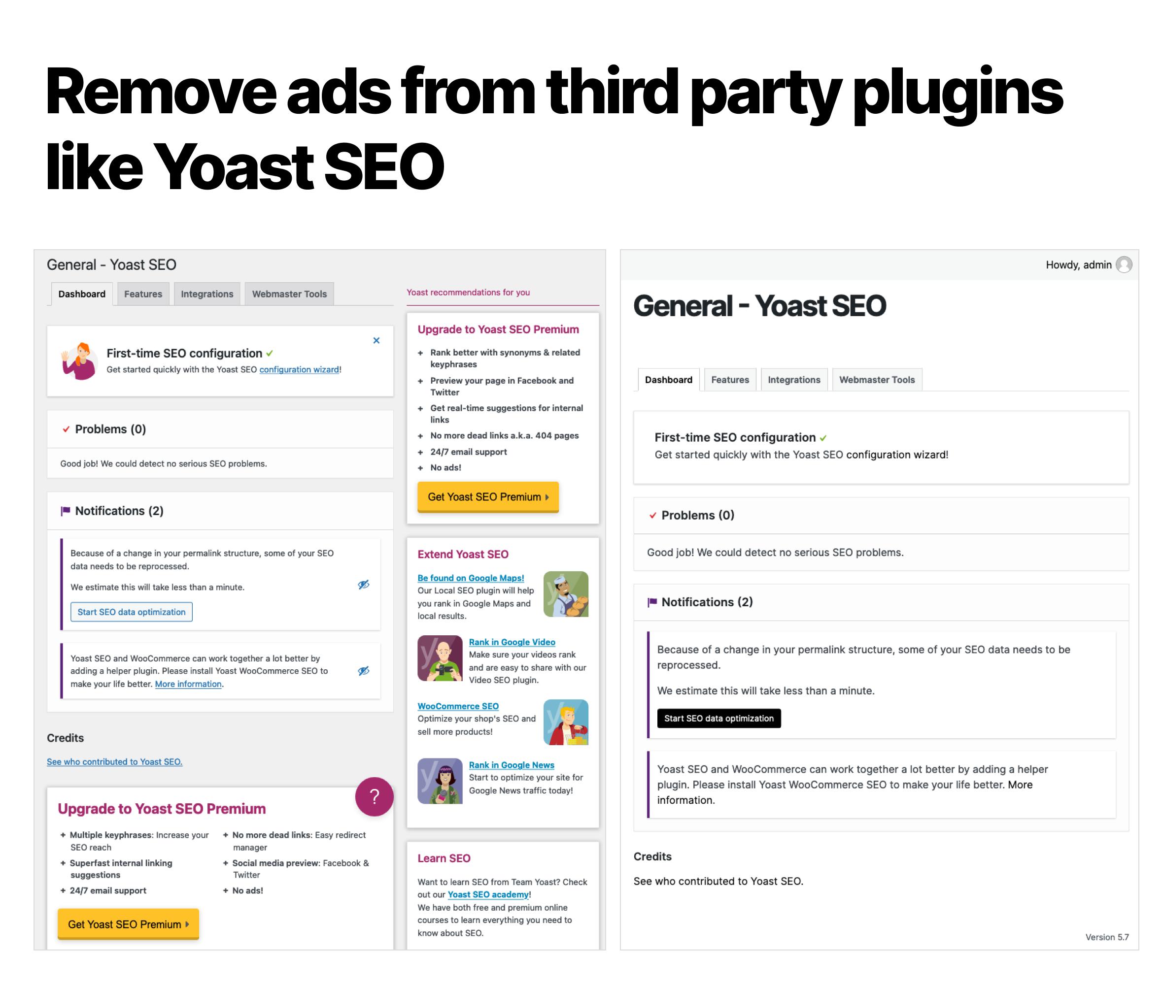 Simple Dashboard Theme / Admin Theme for WordPress - 2