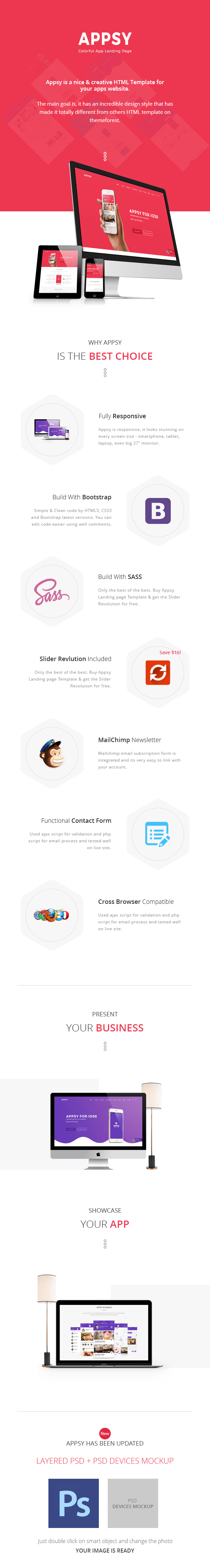APPSY - Colorful App Landing Page Template - 1