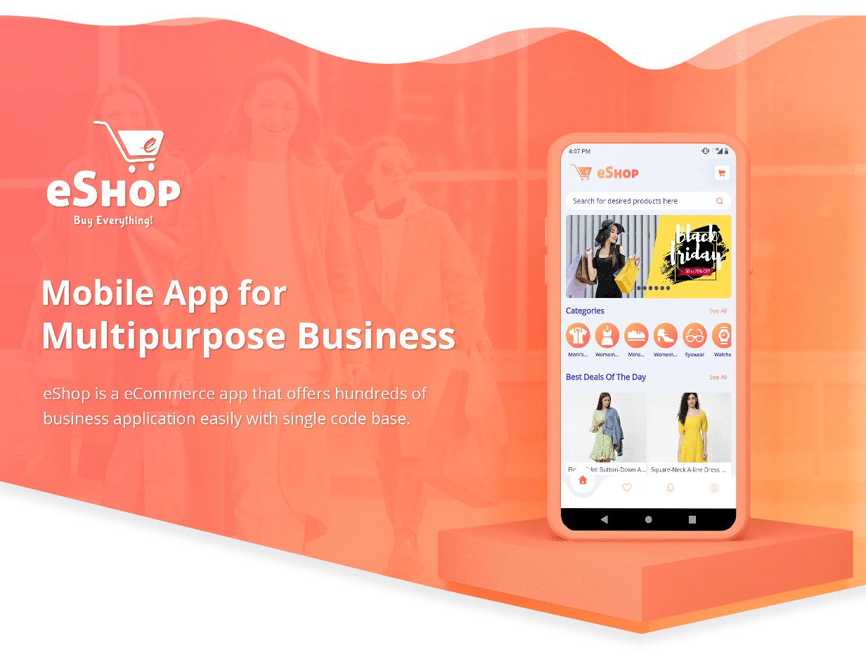 eShop - Flutter E-commerce Full App - 7