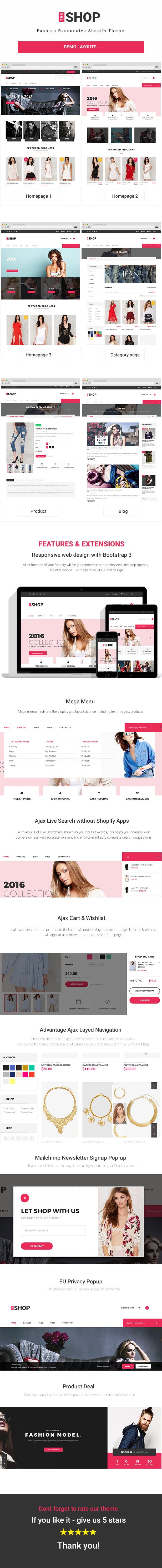 Clothing & Fashion Responsive Shopify Theme - TheShop