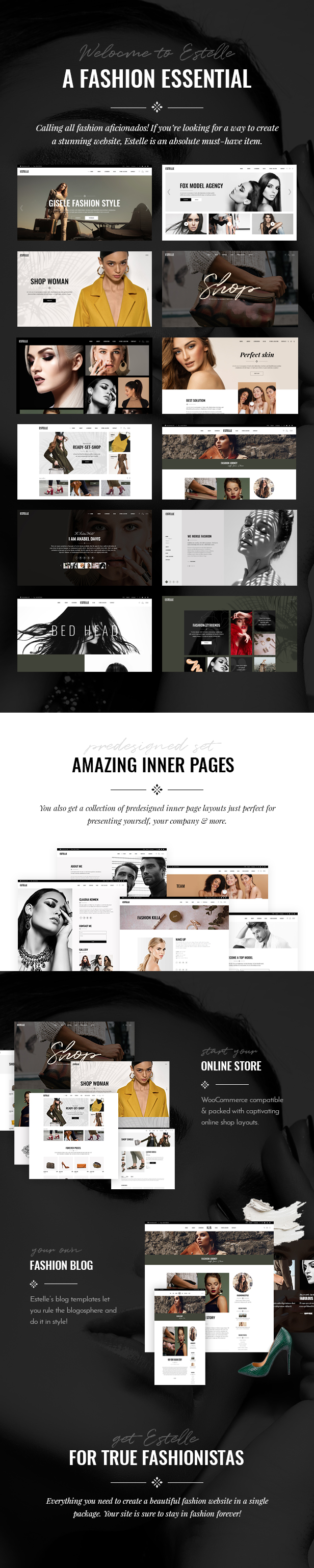Estelle - Fashion and Modelling Agency Theme - 1