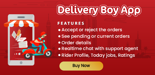 Native Restaurant Food Delivery & Ordering System With Delivery Boy - Android v2.0.6 - 6