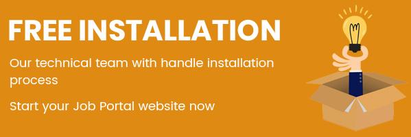 Job Portal Script  free installation