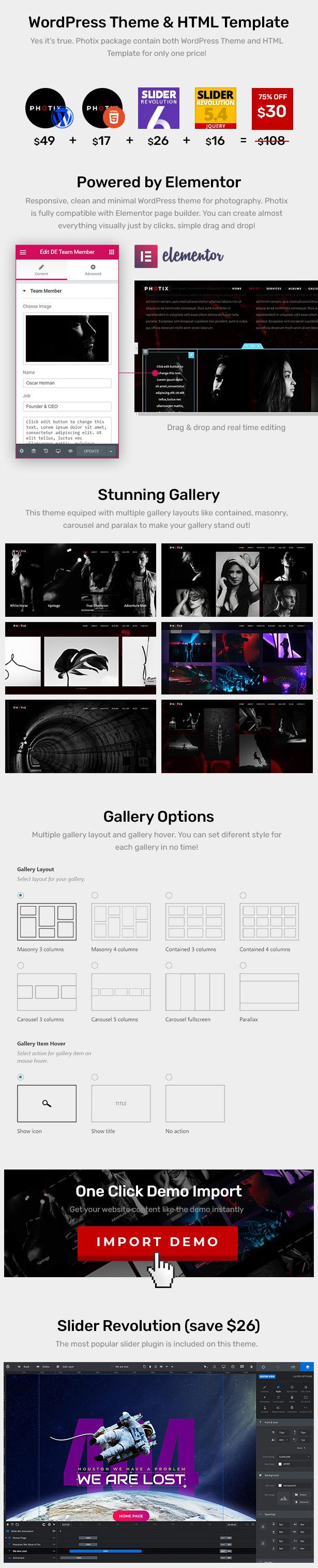 Photix - Photography WordPress Theme